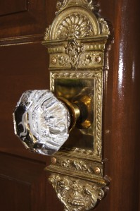 Monogrammed Crystal on Brass