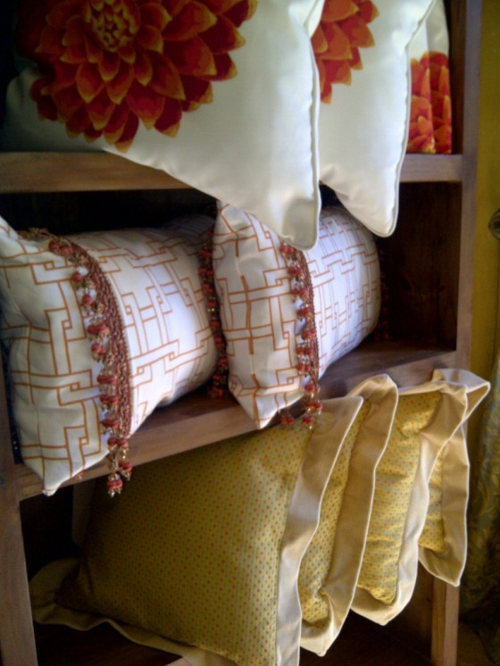 Custom Pillows: Lined and often Interlined with our Couture Chateau Fabric!