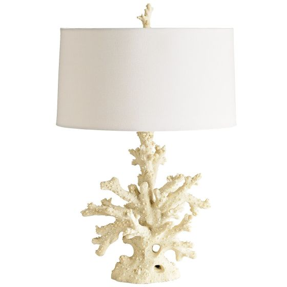 Fabulous Coral Lamp from Pier One. If you look closely at the Beach House on ABC's  Revenge, you'll see it there too! At $125 a complete steal.