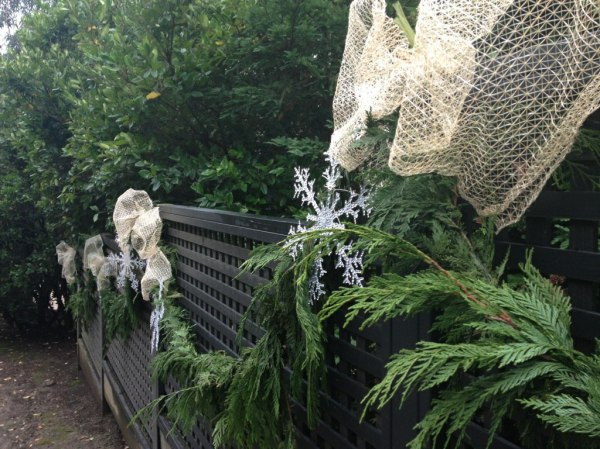 The snowflake plastic prototypes on the fence's garland......if I use them on the entire fence I will need over 100...is that practical? No...not this season...